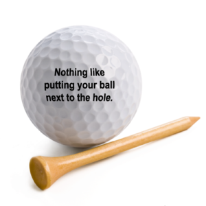 Putting-ball-next-to-hole